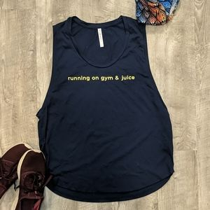 Running on Gym & Juice Fabletics Tank